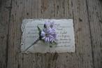 ヨメナの布花ブローチ