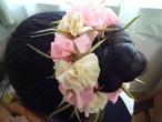 ハワイアンリボンレイ【(レシピなし)マリーゴールドの髪飾り(シュシュ)】 キット