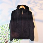 SHERPA FLEECE ZIP PARKER COL.BLACK