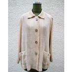 Cream beige pleats shirt