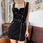 【dress】セクシー配色プルオーバーデートワンピース22164901