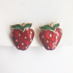 """AVON"" Verry Berry earring[e-1246] ヴィンテージイヤリング"
