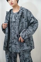 曖昧な上着 fuzzy rope jaket コットンプリント×製品染