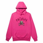 Houndstooth Jolly Roger Hoodie(Lip Stick Pink)
