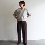 PHEENY【 womens 】double cloth high waist wide pants