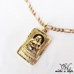 ブッダ 仏教 仏陀 フィガロ チェーン 金ゴールド GOLD ネックレス B系 ストリート系 男女兼用 メンズ レディース アクセサリー ゴージャス 586