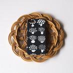【iPhone / Android 各機種専用タイプ】側表面印刷*ハード型*スマホケース「flower base ( charcoal )」● 受注生産
