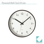 KATOMOKU plywood clock km-35M
