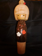 卯三郎こけし人形 Kokeshi doll(Usaburou signature)(No15)