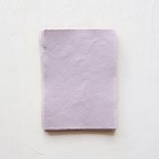 "ハンドメイドペーパー 5""×7"" モーヴ 3枚/Mauve Deckle edge hand made cotton rag paper"
