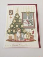 ドイツ直輸入! ワンちゃんと猫ちゃんのキュートなクリスマスカード