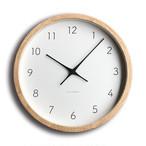 KATOMOKU muku round wall clock 7 km-60NRC 電波時計