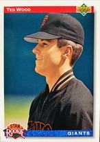 MLBカード 92UPPERDECK Ted Wood #012 GIANTS Rookie Card