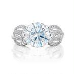 モアサナイト 5カラット ダイヤモンド 18k