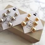《renewal》Metallic 3 Ball pierce/earrings