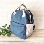 【再販】ヴィンテージ帆布リュック・ゆったりA4サイズ(ブルー)