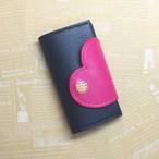 【再販】 セキュリティカード対応☆ハートで包み込むキーケース (チェリーピンク)