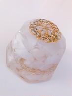 【ミルキークォーツ】ダイヤモンド型オルゴナイト・89(永遠の愛・幸福の石・恋愛成就)~