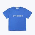 「PCC」カラー クロップド Tシャツ ブルー