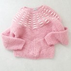 RIBBON KNIT SWEATER.