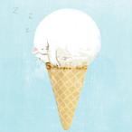 台湾ポストカード「猫アイス-バニラ」