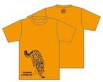 ツシマヤマネコTシャツ(オレンジ)