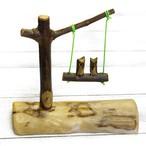 【KEN】木彫りフクロウのブランコ/インテリア