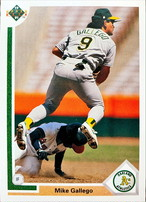 MLBカード 91UPPERDECK Mike Gallego #151 ATHLETICS