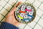 BBくま 刺繍アイロンワッペン _ pencil