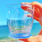 漂うクラゲのグラスタンブラー ショート 青 紫 赤