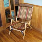 """[あと1脚]KachaKacha Mid Chair  """"Redwood Stripe""""(カチャカチャチェア レッドウッド ストライプ)"""