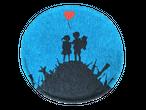Banksy(バンクシー) × BRANDALISED(ブランダライズド) ラウンドチェアパッド