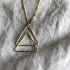 Balance Triangle Necklace -Brass-