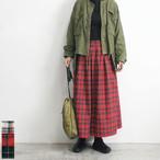 Neu-tral wear life ニュートラルウェアライフ 起毛チェックスカート 【返品交換不可】 (品番n-110)