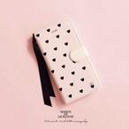 ♥♡ハート柄がキュートなiphone/androidのスマホ手帳ケース