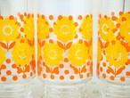 HOYA 昭和レトロなお花柄のグラス レトロポップ