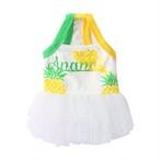 【犬服・ドッグウエア】パイナップル柄のサマードレス