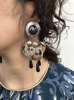 Vintage handpaint silver earrings ( ヴィンテージ ハンドペイント シルバー イヤリング )