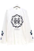 「棘薔薇/Rose Needle」Long T-shirt White