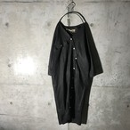 [used] buttones curved design long  shirt