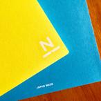ノンブルノート「N」(02)イエロー×スカイブルー