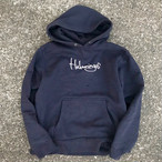 受注生産 HULAMINGOS 2009 LOGO SWEAT PARKA NAVY BLACK