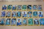 1986年カンザスシティロイヤルズのベースボールカードいっぱい!