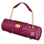 クロコダイル調 ショルダーバッグ & ピクニック ワインバッグ Purple バープル