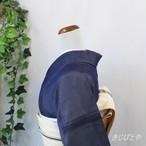 【Y様ご予約品】正絹紗 濃藍の付け下げ 紋入り