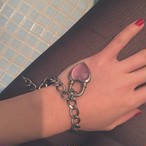 Never End Bracelet Silver/Pink #1756 ネバー・エンド ブレスレット/シルバー・ピンク
