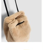 【送料無料】もこもこeco fur bag エコファー バッグ 2018冬 新作 フェイクファー デート オフィス 通勤 ms-tb-1114