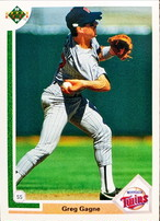 MLBカード 91UPPERDECK Greg Gagne #415 TWINS