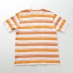 courreges オレンジ 半ジップポロシャツ