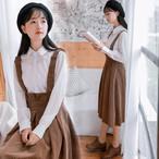 コーデュロイ生地 フレア ガーリー スカート【14685】